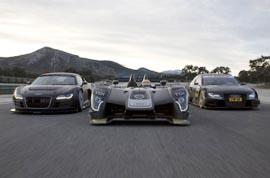 Audi R8 LMS, Audi R15 TDI, Audi A4 DTM